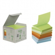 Post-It Z-vikt, 76x76mm pastell, 100blad/block, 6block/fp
